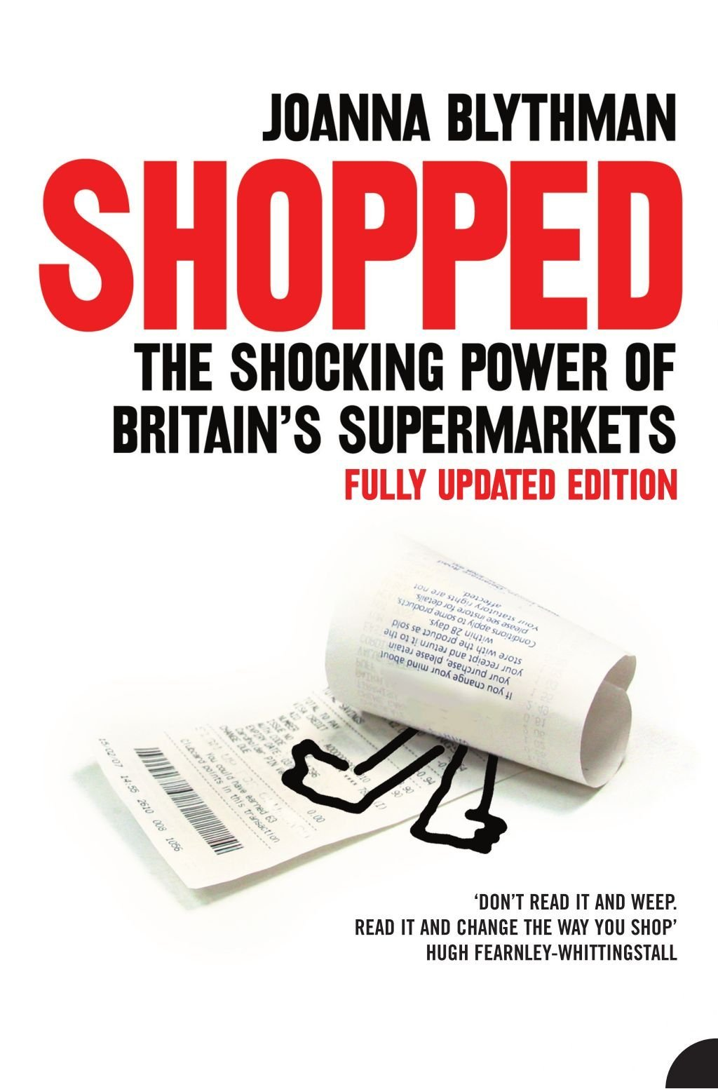 The cover of the book Shopped by Joanna Blythman