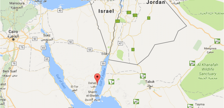A map of Dahab